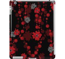 Elegant cute flowers seamless pattern on black iPad Case/Skin