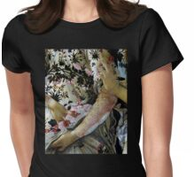 Botticelli Primavera closeup vintage painting Womens Fitted T-Shirt