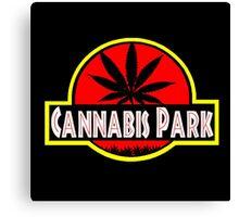 Cannabis park style jurasisic Canvas Print
