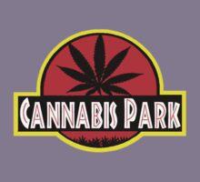 Cannabis park style jurasisic Kids Tee