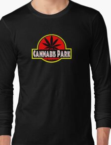 Cannabis park style jurasisic Long Sleeve T-Shirt