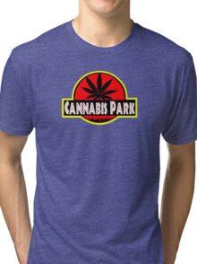 Cannabis park style jurasisic Tri-blend T-Shirt
