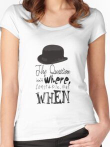The question isn't where Constable, but when. Women's Fitted Scoop T-Shirt