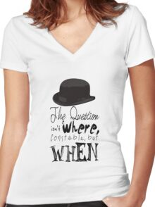 The question isn't where Constable, but when. Women's Fitted V-Neck T-Shirt