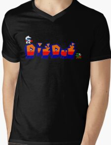 Dig-Dug Mens V-Neck T-Shirt