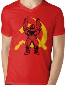 Zangief The Red Cyclone Mens V-Neck T-Shirt