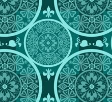 Turquoise abstract  lace pattern texture Sticker