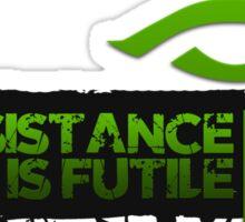 Ingress Enlightened - Resistance is Futile Sticker