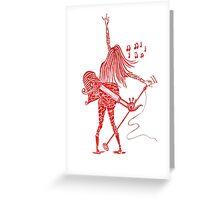 music matrix reloded Greeting Card