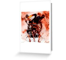 Unstoppable Trio: One Piece Greeting Card