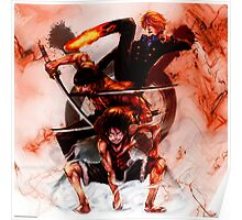 Unstoppable Trio: One Piece Poster