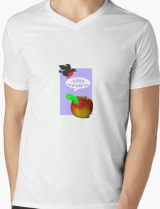 Pregnancy news, or engagement news, caterpillar and bird Mens V-Neck T-Shirt