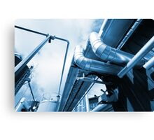 Factory Metal Canvas Print