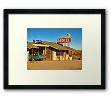 Old Motel Framed Print