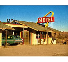 Old Motel Photographic Print