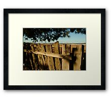 Joe Mortelliti Gallery - Old fence, Ascot Farm Lands Framed Print