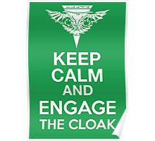 Star Trek - Keep Calm and Engage the Cloak (Romulan) Poster