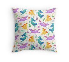 Unicorn Dreams Throw Pillow