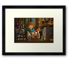 Halfling Magic Item Merchant Framed Print