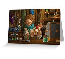 Halfling Magic Item Merchant Greeting Card