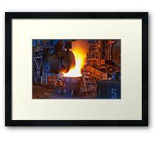 Metal Fire Framed Print