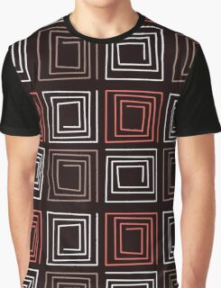 Ornamental pattern patchwork design print with geometrical elements Graphic T-Shirt