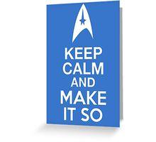 Star Trek - Keep Calm and Die With Honour (Klingon) Greeting Card