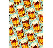 Beer Pattern 2 Photographic Print