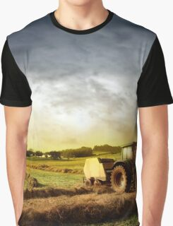 Tractor Working Graphic T-Shirt