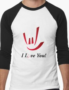 I Love You - ILY Men's Baseball ¾ T-Shirt