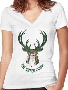 Greek Freak Women's Fitted V-Neck T-Shirt