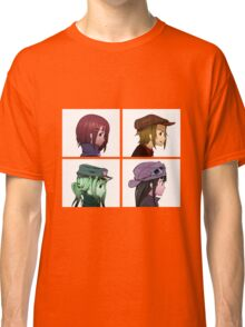 Houkago Tea Time (K-ON!) and Gorillaz mashup Classic T-Shirt