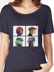 Houkago Tea Time (K-ON!) and Gorillaz mashup Women's Relaxed Fit T-Shirt