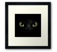 toothless how to train your dragon Framed Print