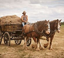 Carting Hay by Linda Lees