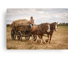Carting Hay Canvas Print