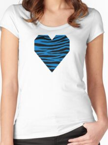 0275 French Blue Tiger Women's Fitted Scoop T-Shirt