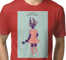 Grow–Plant Girl (purple) Tri-blend T-Shirt