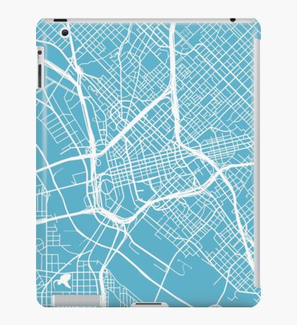 Dallas Map - Baby Blue iPad Case/Skin