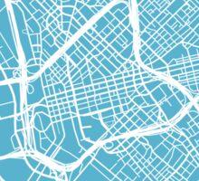 Dallas Map - Baby Blue Sticker
