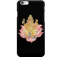 Ganesh on Lotus iPhone Case/Skin