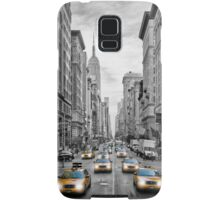 NYC 5th Avenue Yellow Cabs Samsung Galaxy Case/Skin