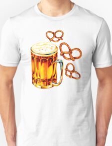 Beer & Pretzel Pattern T-Shirt