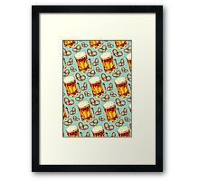 Beer & Pretzel Pattern Framed Print