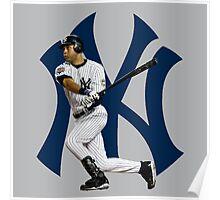 baseball bat derek jetter Poster