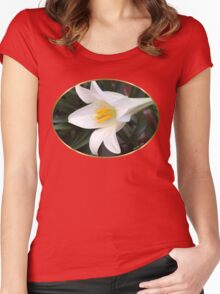 The Easter Lily ~ a Biblical Flower Women's Fitted Scoop T-Shirt