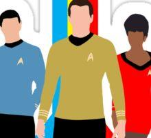 Star Trek - Tricolour Starfleet (TOS) Sticker