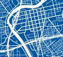 Dayton Map - Deep Blue Sticker