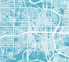 Des Moines Map - Baby Blue Sticker