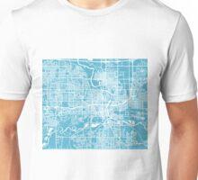 Des Moines Map - Baby Blue Unisex T-Shirt